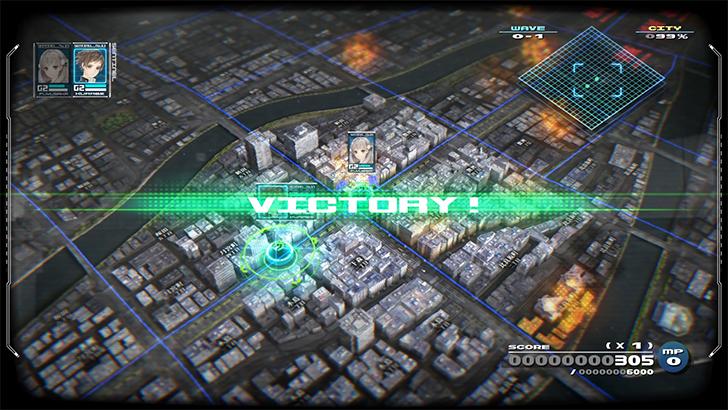 十三機兵防衛圏 体験版のバトル勝利画面