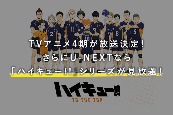 TVアニメ4期「ハイキュー!! TO THE TOP」が放送決定!さらにOVA作品も!U-NEXTなら「ハイキュー!!」シリーズが見放題!