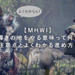 【MHWI】導きの地をやる意味って何?注意点とよくわかる進め方!