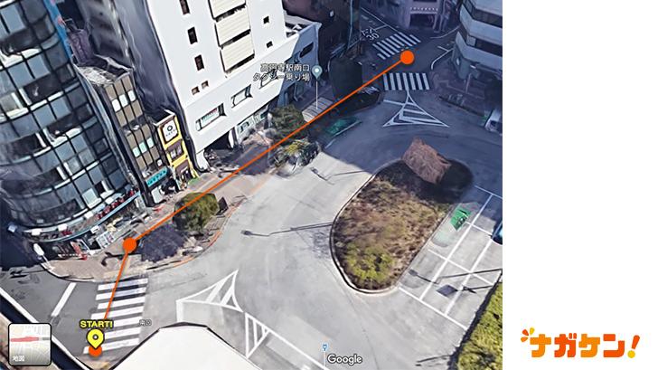 JR「高円寺」駅の俯瞰写真