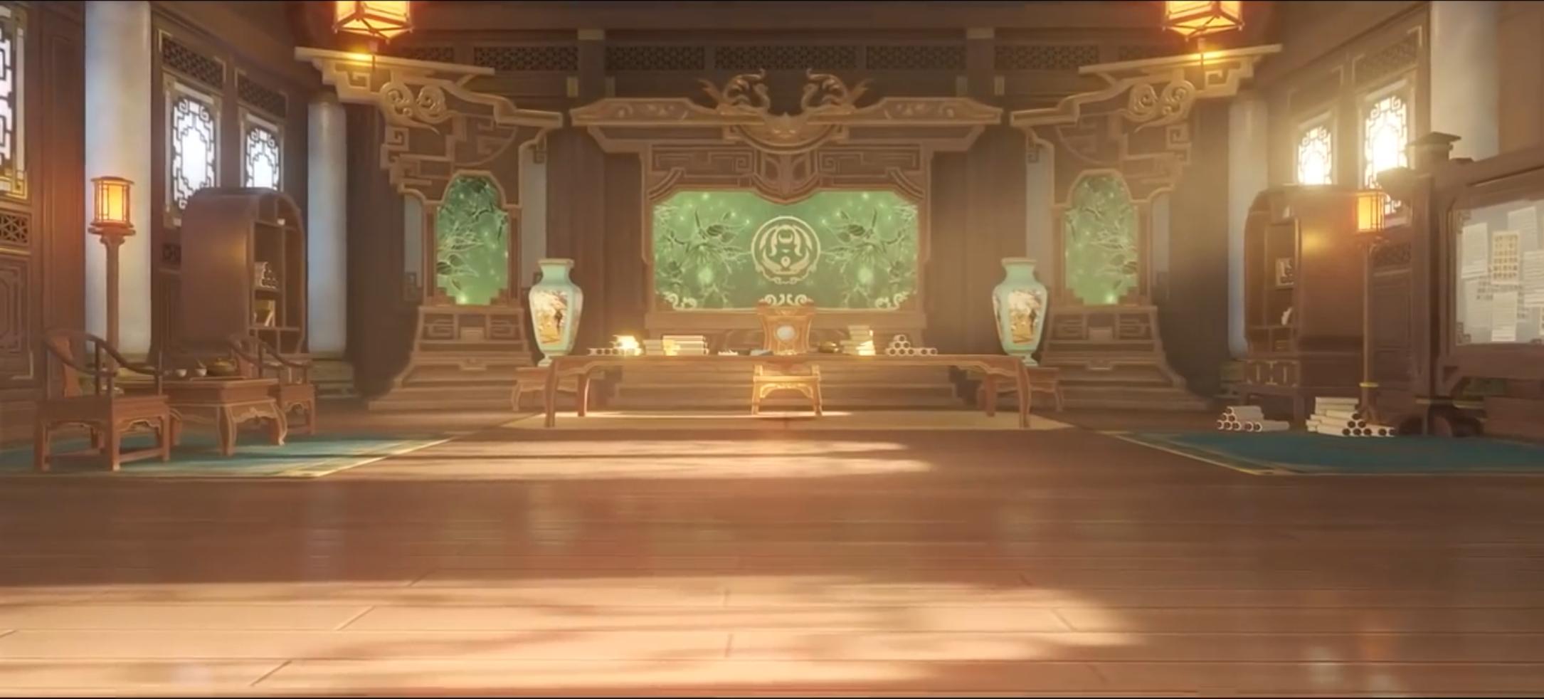 凝光の技「璇璣屏 」の様な室内のオブジェクト