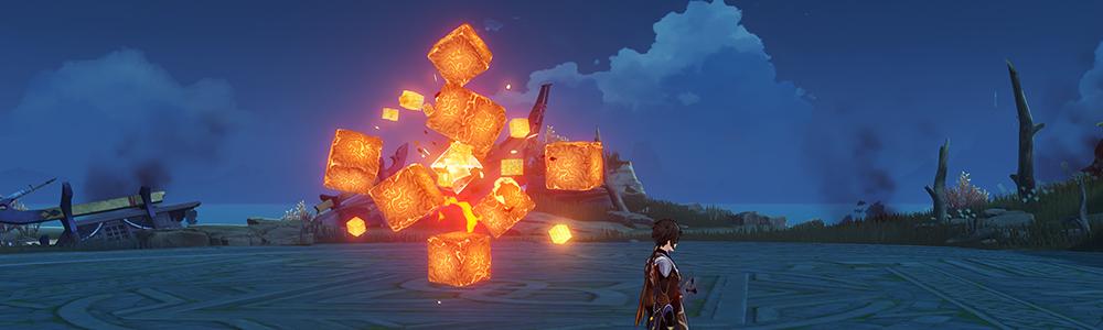 【稲妻 フィールドボス】無相の炎を討伐すると、素材「陰燃の珠」が手に入ります