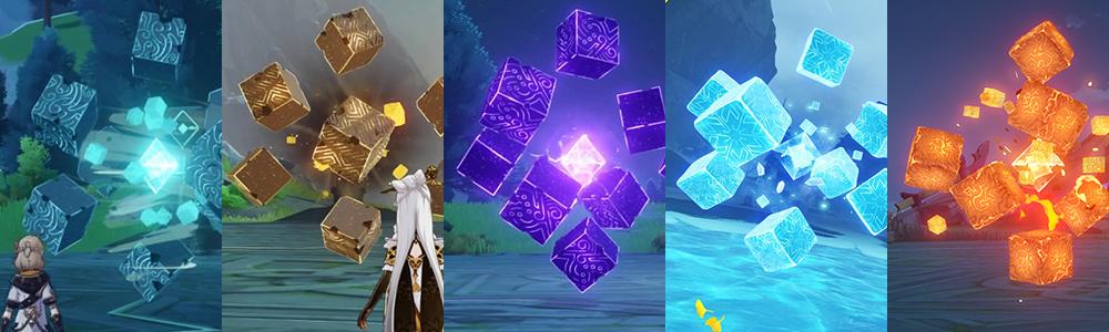 原神 「無相の風・無相の岩・無相の雷・無相の氷・無相の炎」の素材が必要なキャラクター一覧