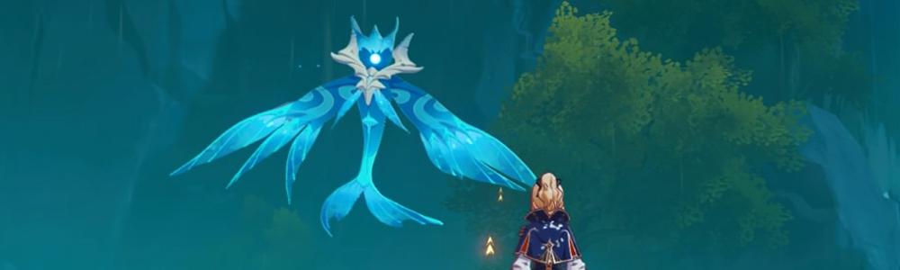 【璃月港(リーユエ) フィールドボス】純水精霊を討伐すると、素材「浄水の心」が手に入ります