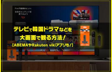 NordVPN(ノードブイピーエヌ)とFire TV Stickをテレビで利用して韓国ドラマなどを大画面で観る方法!【ABEMAやrakuten vikiアプリも!】