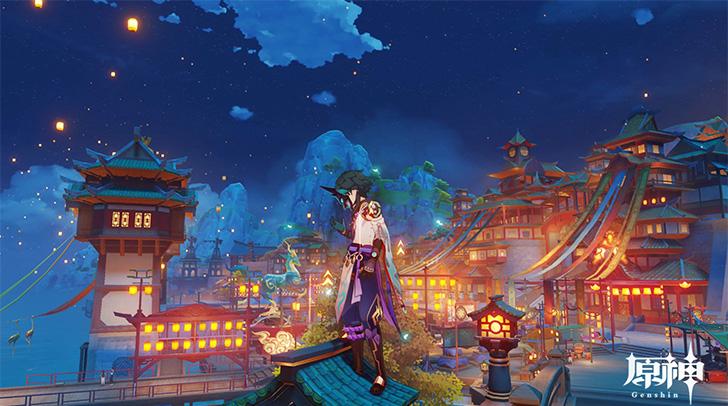【原神】魈(ショウ) 璃月(リーユエ )のお祭り「海灯祭」 にて