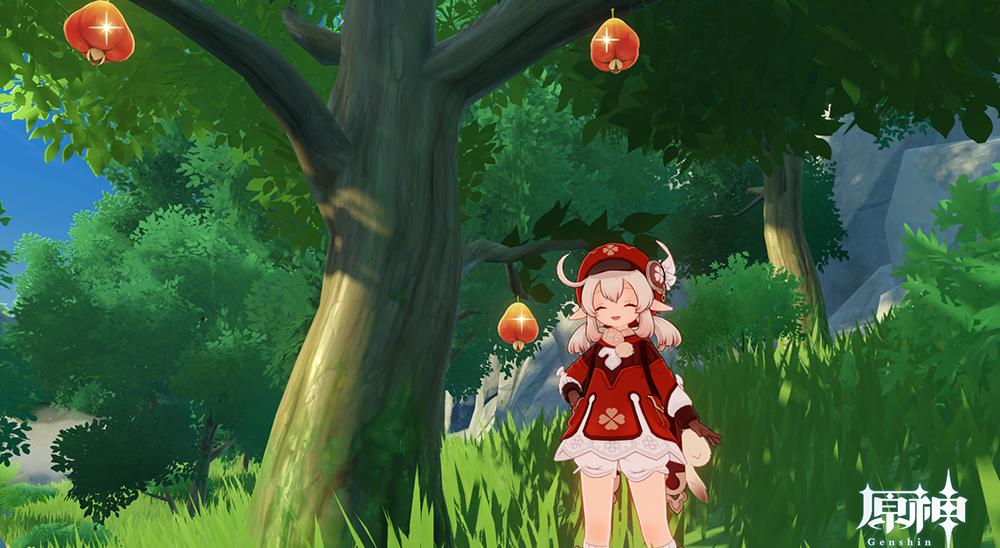 りんごや実がついている木です。